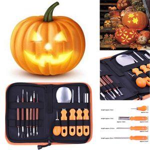 Kürbis-Schnitzen Tools Kit Halloween-Kürbis-Schnitzen Messer Edelstahl -(als Bild zeigen,)
