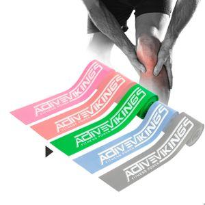 ActiveVikings Floss Band + Tasche - 2m Flossing Band - Ideal für Physiotherapie, Triggerpunktbehandlung und zur Selbstmassage - Perfekt für Sport und Fitness - Flossband Kompressionsband