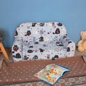 Kindersofa Kindersessel Minisofa Klappsofa Kindercouch Baumwolle Modell 6