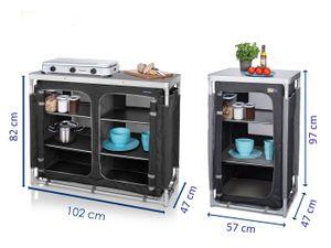 Campingschrank SET faltbar OUTDOOR CAMPING Küchenschrank Zeltschrank Küchenblock