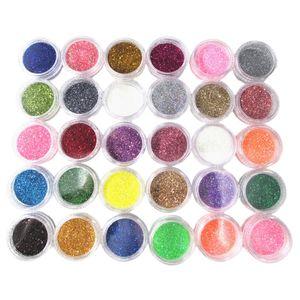 DIY Nagel Glitzer Puder, 30 Farben Glitter Pulver für Gesicht, Nägel, Haar, Körper usw.