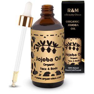 R&M Beauty-Oleo Jojobaöl - Bio & vegan - kaltgepresst für Gesicht & Haar 100ml