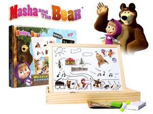 Magnet und Kreide Tafel für Kinder MASCHA UND DER BÄR Kinderspiel Holzspielzeug