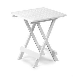 Kunststoff Campingtisch Beistelltisch Klapptisch klappbar Weiß 44x44x50 cm