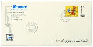 FDC mit 62-Cent Briefmarke 'Ostern gelb', 2015, ungel. M-ware® ID15669