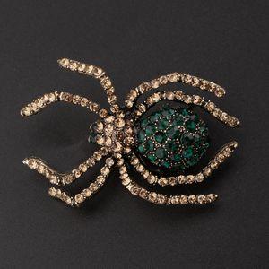 Vintage Spider Libelle Tier Broschen Lady Crystal Brosche Pin SpiderA Größe SpiderA