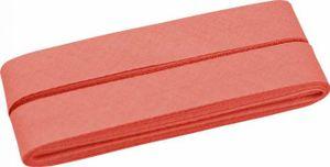 5m Coupon Lachs 748 BW-Schrägband/-Einfassband gefalzt 40/20mm