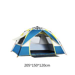 SAMTOBELY Familienzelt 2/3 Personen Zelt,Campingzelt,leichtes Trekkingzelt, Tunnelzelt wasserdicht Zelt 200*150*130cm blau