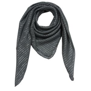 Baumwolltuch - grau - dunkelgrau Lurex silber - quadratisches Tuch
