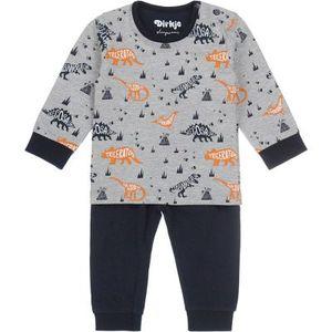Dirkje Jungen Pyjamas-Nachtwäsche in der Farbe Grau - Größe 98-104