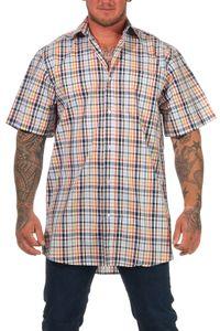 Herren Hemd kurzarm Freizeithemd in sommerlicher Farbe - auch in Übergrösse erhältlich, Farbe:gelb, Größe:47-48