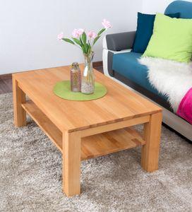 Sofatisch Clubtisch Loungetisch Couchtisch Buche Massivholz Farbe: Natur 45x105x65 cm