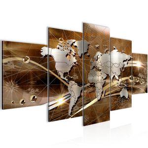 Weltkarte World map BILD :200x100 cm − FOTOGRAFIE AUF VLIES LEINWANDBILD XXL DEKORATION WANDBILDER MODERN KUNSTDRUCK MEHRTEILIG 106851b