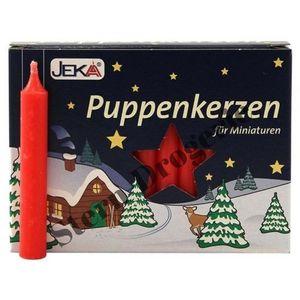 Puppenkerzen 10 x 65 mm rot 20 Stück- für Miniaturen