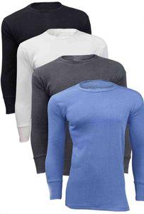 Herren Thermounterhemd Thermo langes Unterhemd Unterwäsche schwarz L