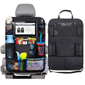 Rücksitz Organizer Auto, Universal  Sitzschutz Rückenlehnenschutz mit 3 Große Storage Organizer, 2 pcs