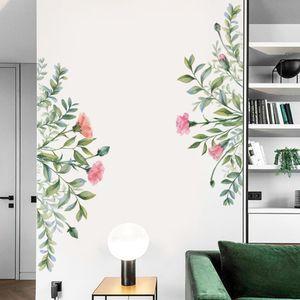 Pflanzenblume hinterlaesst selbstklebende Wandaufkleber
