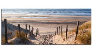 Glasbilder Wandbild AG312502082 Sand Pfad zum Meer  125 x 50cm