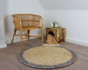 animal-design Seegras Teppich Vorleger Wohnraum rund
