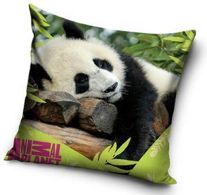 Kissen Kuschelkissen Dekokissen mit Panda Bär 40 x 40 cm