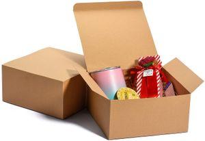 12 Geschenkboxen 20 x 20 x 10 cm braun