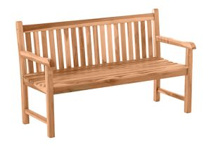 Möbilia Gartenbank 150 cm | 3-Sitzer aus Teak Holz | B 150 x T 63 x H 92 cm | natur | 11020014 | Serie GARTEN