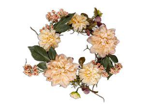 Formano Kranz 32 cm Dahlie - Mix Herbstkranz Dekoration Blüten Beeren Blätter