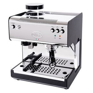 Quick Mill 02835 Superiori Profi CON Macinacaffe' Traditionelle Espressomaschine, Edelstahlgehäuse, Milchaufschäumer