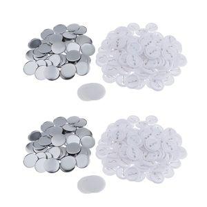 200 Sätze Buttonrohlinge Buttons Rohlinge Anstecknadel Buttonmaschine Zubehör, 44 mm