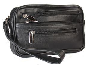 Hochwertige Handgelenktasche aus Rindleder  / Herrentasche Leder Tasche Bag NEU