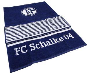 Schalke 04 Badetuch Streifen marine 90x180 0 STCK
