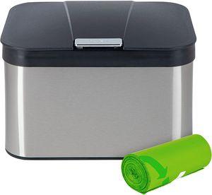 ONVAYA® Komposteimer Bill Edelstahl+Müllbeutel