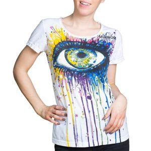 PANASIAM T-Shirt Mirror Women, Farbe/Design:Chakras-Bunt, Größe:L