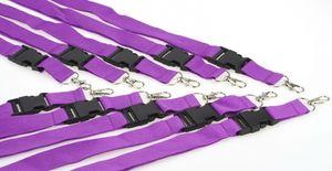 10 Schlüsselbänder violett 25mm Lanyard Band Clip Karabiner