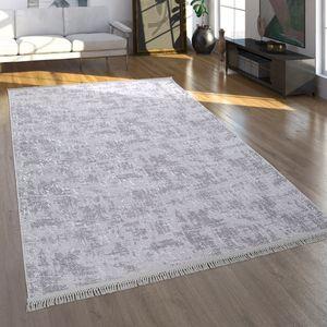 Teppich, Kurzflor-Teppich Für Wohnzimmer Im Orient-Look, Waschbar, In Grau, Grösse:150x230 cm