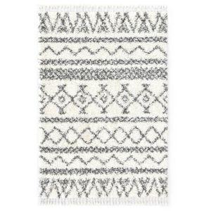vidaXL Berberteppich Hochflor PP Beige und Grau 160×230 cm