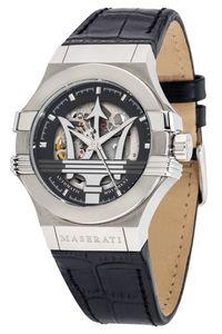 Maserati R8821108038 Herrenuhr Automatik Potenza Skelett silber/schwarz