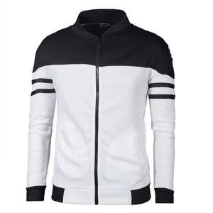 Herren Herbst/Winter-Stil Kontrastierende Streifennähte Top Warme Hemdjacke Jacke,Farbe: Schwarz,Größe:S