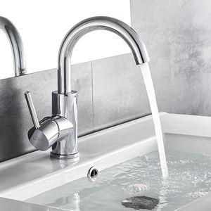 Chrom Badarmatur Waschtischarmatur Wasserhahn 360° Waschbecken Armaturen Einhebelmischer Mischbatterie