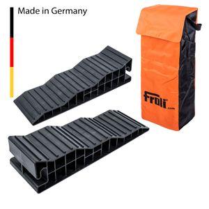 FROLI ® Stufenkeil XL 2er Set 4000 kg pro Achse inkl Tasche für Caravan