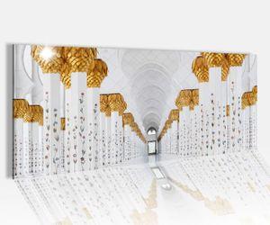 Acrylglasbild 100x40cm Moschee arabisch Architektur Bau Glasbild Bilder Acrylglas Acrylglasbilder Wandbild 14A209
