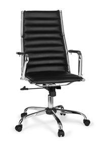 Bürostuhl GENF 1 Bezug Kunstleder Schreibtischstuhl Schwarz