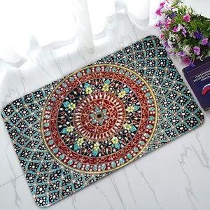 ABPHQTO Geometry Trellis Fußmatte, Mandala Hippie Fußmatte Outdoor Indoor Fußmatten Teppiche 45x75 cm