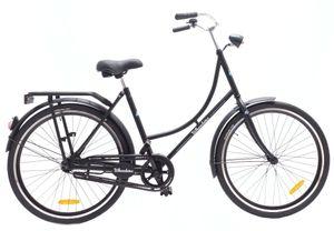 Wheelerz Hollandräder Damen Oma 26 Zoll 48 cm Mädchen Rücktrittbremse Mattschwarz