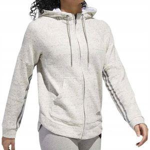 Adidas Sport Damenbluse Reißverschluss-Sweatshirt In Grau DH8118 Größe L