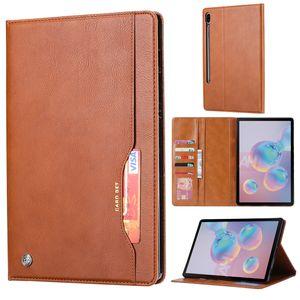 Samsung Galaxy Tab S7 11 inch Hülle, LaimTop Premium Klappetui Brieftasche Ledertasche Schutzhülle mit Kartenfach und Standfunktion für Galaxy Tab S7 11 inch 2020 SM-T870/T875/T878 Braun