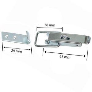 Spannverschluss Kistenverschluss 75 x 27 x 3 mit Schlossöse Gegenhaken Gerade