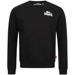 Herren Rundhals Sweatshirt schmale Passform LONGRIDGE Black L Lonsdale