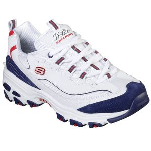 Skechers Damen Sneaker Sneaker Low Leder-/Textilkombination weiss 41