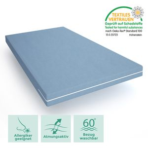 Komfortschaum-Matratze 90x200 cm - Wellness Schaum mit waschbarem Bezug -  hergestellt in Deutschland